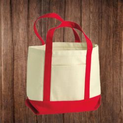 8867 Seaside Small Cotton Canvas Boater Tote Thumbnail