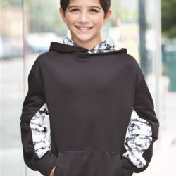 2464 Youth Digital Camo Performance Fleece Hooded Sweatshirt Thumbnail